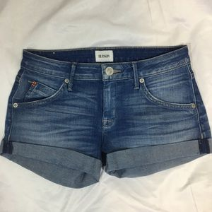 Hudson Denim Hampton Cuffed Short Shorts 25